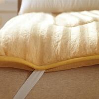 家纺榻榻米床垫床褥子垫被加厚绒折叠学生海绵1.51.2米单双人防滑 主图款-加厚浅金色防滑底