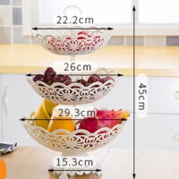 多层水果篮欧式果盘现代客厅三层水果盘创意时尚干果点心盘糖果盘