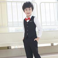 儿童礼服西装马甲套装男孩主持钢琴演出服夏