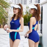 游泳衣女新款连体保守遮肚显瘦泳装性感大码专业学生运动泳衣