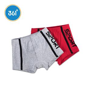 361°童装 男童内裤中大童纯棉平角内裤K11742451 红色/灰色