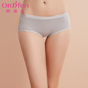 【满199减100】欧迪芬女士内裤新款纯色舒适女式三角内裤XK7203