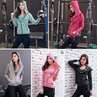 韩版运动瑜伽服套装女健身房专业跑步速干衣宽松长袖弹力晨跑秋