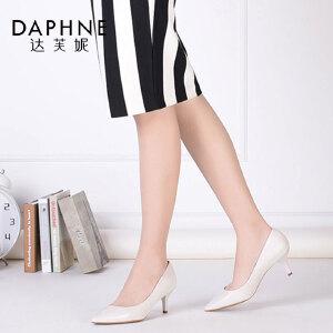 Daphne/达芙妮杜拉拉春季女鞋尖头高跟鞋单鞋1716101004
