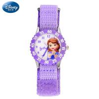 迪士尼儿童手表女孩帆布带魔术贴苏菲亚公主石英表女童小学生手表