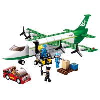 客机飞机模型儿童积木拼装玩具益智6-7-8-10岁男孩子智力