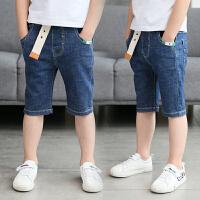 儿童牛仔短裤夏季新款韩版修身五分裤男孩休闲中裤潮