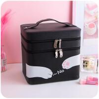 便携化妆包大容量女化妆箱手提大号化妆品收纳箱收纳盒小方包化妆品收纳包