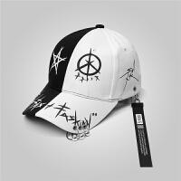 帽子男士夏季潮牌韩版鸭舌帽潮棒球帽青年百搭遮阳帽学生嘻哈帽