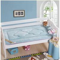 天天定做幼儿园床垫宝宝午休垫褥儿童床褥垫背床褥加厚T 乳白色 蓝色-珊瑚绒