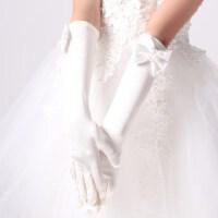 儿童婚纱礼服手套 女童演出服配饰淑女中长手套 儿童手套 支持礼品卡支付