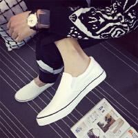 秋季男士帆布鞋运动情侣休闲鞋布鞋韩版潮流懒人一脚蹬板鞋 35 标准码