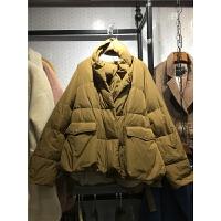 L6冬装新款女装时尚 围巾羽绒服女短款大码加厚外套韩版潮1.0