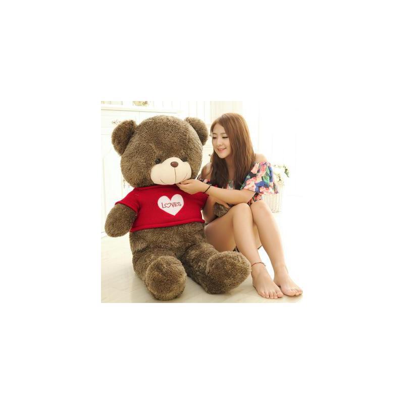 【两件五折】毛衣毛绒玩具熊大号泰迪熊抱抱熊玩偶公仔送女生布娃娃女孩礼物生日礼物益智玩具限时钜惠