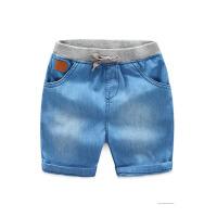宝宝牛仔短裤夏装新款男童童装儿童松紧腰潮中裤子