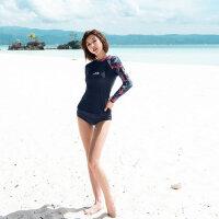 游泳衣女 三件套韩版元气学生保守泳装 遮肚显瘦泳衣新款泳装