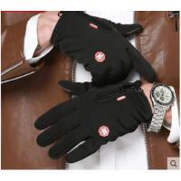 撞色时尚精个性拉链分指手套触摸屏手套男女加绒保暖防滑骑行开车防水