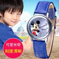 迪士尼儿童手表男孩男童防水米奇电子石英表可爱卡通小学生手表W