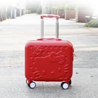 可爱旅行箱16寸电脑箱登机箱拉杆箱女万向轮儿童行李箱正方形卡通