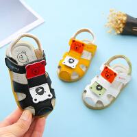 凉鞋夏季包头软底防滑0-1-2岁女童学步婴儿凉鞋