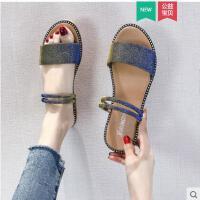 拖鞋凉鞋两穿女平底外穿新款ins时尚百搭仙女风学生潮