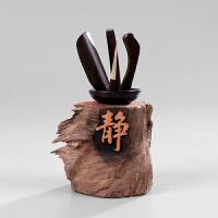 茶道六君子整套装 实木质功夫茶具零配件 茶杯茶叶夹子竹制镊子 E 1物1拍