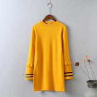 G6毛衣女秋冬 中长款宽松打底衫韩版套头长袖针织衫新款潮外套0.4