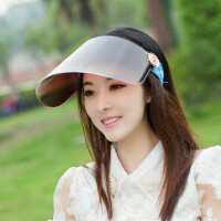 骑电动车遮阳帽太阳帽子女士遮脸韩版夏天骑车镜片大沿帽夏季