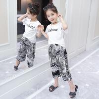 女童夏装2018新款韩版中大童髦套装儿童洋气两件套小女孩夏季潮衣