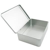 大号带铰收纳铁盒 素色金属盒 包装盒 家居饼干糖果存放 盒子