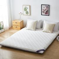 床垫1.2米学生宿舍褥子单人加厚垫被夏季防潮地铺睡垫榻榻米垫子SN2338 珍珠白(约10cm厚)(送午睡毯) 针织透