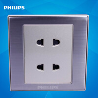 飞利浦墙壁插座面板86型金属系列Q8 810U2 二二极四孔插座10A面板