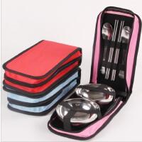 户外折叠餐具套装便携硅胶折叠碗杯野营野餐用品旅行带盖泡面饭盒