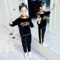 女童套装春装2019新款童装韩版中大儿童春秋金丝绒潮衣运动两件套