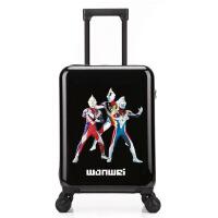 【品质优选】2019奥特曼儿童拉杆箱万向轮18寸男童旅行箱小学生行李箱20寸卡通皮箱