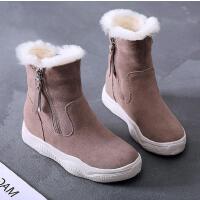 女童雪地靴子秋冬季大童棉靴马丁儿童鞋冬款短靴