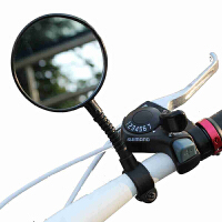 自行车后视镜反光镜安全镜单车配件自行车广角镜后视镜倒车镜 黑色