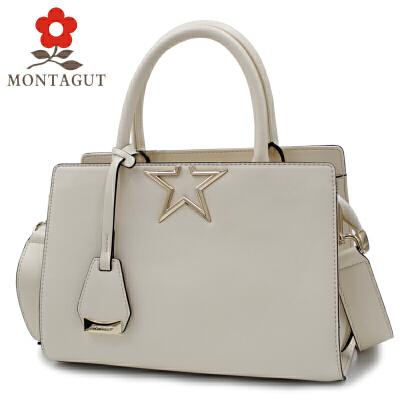 梦特娇Montagut2017新款女包时尚牛皮女士手提包单肩包斜挎包女法国品牌 牛皮材质 支持专柜验货