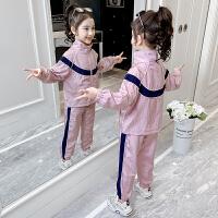 女童套装春装新款春秋女孩衣服儿童休闲运动装两件套