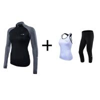 夏季性感吊带空中高温瑜伽服2018新款紧身健身房运动套装女带胸垫