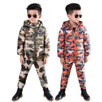 儿童迷彩服套装军训2017秋冬新款中小童两件套男童冬装男宝潮