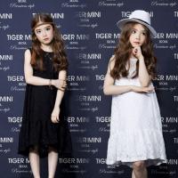 亲子装母女春夏连衣裙17新款韩版女童纯棉蕾丝裙女大童公主礼服裙