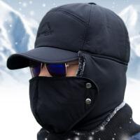 冬季中老年男士东北口罩雷锋帽户外加厚保暖帽护耳冬天老人帽子男