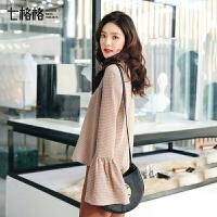 七格格雪纺上衣仙甜美打底衫女长袖春装新款百搭韩版欧货蕾丝小衫潮