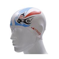 YINGFA英发 男女通用柔软无皱硅胶颗粒泳帽 个性印花泳帽