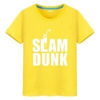 运动男装女装詹姆斯科比球衣篮球运动印花t恤学生青少年NBA短袖男女夏季体恤潮 灰色 黄色 白图