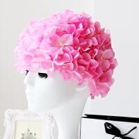游泳帽花朵长发泳帽女士泡温泉泳帽女 长发 韩国时尚 可爱花瓣