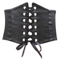 新款欧美时尚超宽衬衫腰封装饰百搭裙子腰带女绑带腰封瘦腰黑 黑色