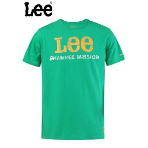 Lee 【断码】专柜男士胸前LOGO图案圆领短袖T恤8670-5Y5P