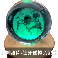 水晶球音乐盒八音盒蓝牙音响定制精品木质男女生生日创意七夕浪漫礼物生日礼物送女友